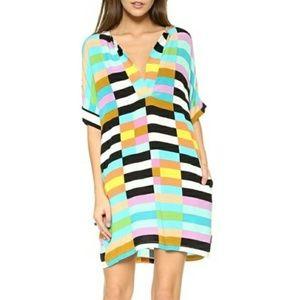 Mara Hoffman Multicolor Flag Stripe Dress